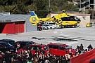 Alonso trasladado en helicóptero a un hospital de Barcelona