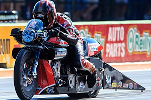 NHRA Preview No letup for reigning Pro Stock Motorcycle world champ Andrew Hines at Gainesville