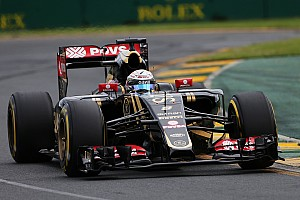 Grosjean and Maldonado will start tomorrow's Australian GP from top ten grid positions