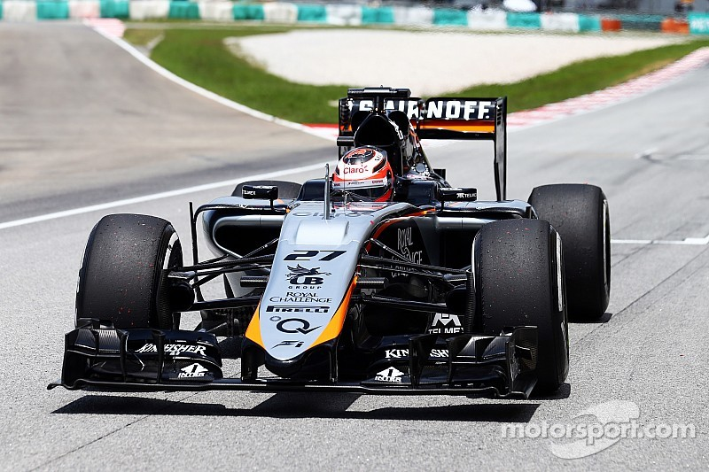 Sahara Force India gets ready for racing in Shanghai