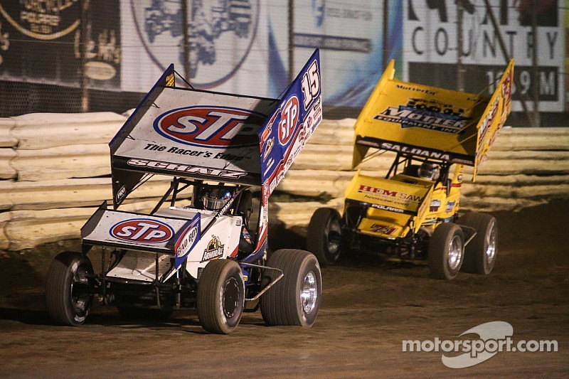 Donny Schatz scores his fourth win of the season at Placerville Speedway