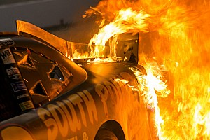 NASCAR XFINITY Breaking news One crew member remains hospitalized after pit road fire