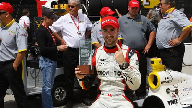 Hinchcliffe in pole position a Long Beach