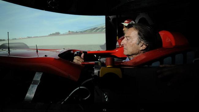 Montezemolo pilota al simulatore