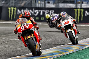 Marquez battles hard for 4th place in France with Pedrosa showing courage despite crash