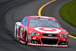 NASCAR Sprint Cup Race report NASCAR notebook, Michigan: Larson OK with calculated risk