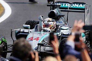 "Hamilton ecstatic after ""perfect call"" pitstop"