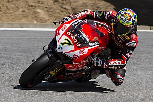 World Superbike Race report Chaz Davies leaves nothing to chance and wins Race 1 at Laguna