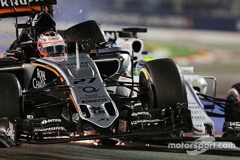 "Hulkenberg ""frustrated"" over Massa clash grid penalty"