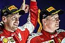 Raikkonen, listo para apoyar a Vettel en la batalla por el título