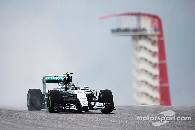VT1: Nico Rosberg domineert, Max Verstappen op P7