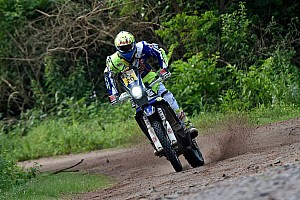 Dakar Stage report Sherco TVS riders drop positions in stage four, Santosh retires