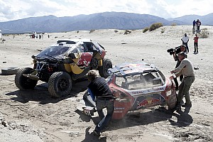 Dakar Stage report Dakar Cars, Stage 8: Al-Attiyah ends Peugeot's victory run as Loeb rolls