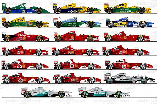 Formula 1 Top List Rediscover Michael Schumacher's 20 Formula 1 cars