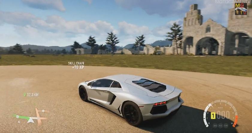 Forza Horizon 2: Lamborghini Aventador a játékban (Xbox One)