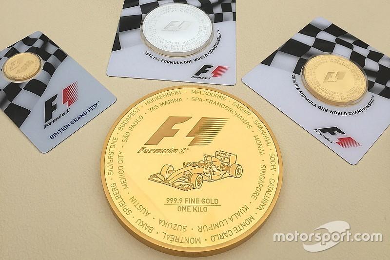 F1オフィシャル金貨が発売。1kgコインは1枚400万円以上也!?