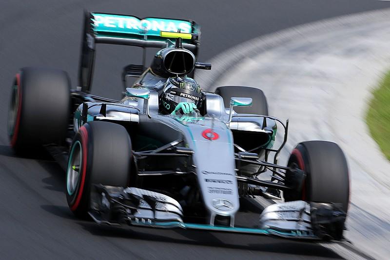 德国大奖赛FP1:罗斯伯格最快,梅赛德斯占据前二