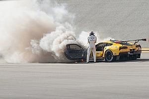 IMSA Últimas notícias Galeria: Fassler escapa ileso após incêndio em Corvette