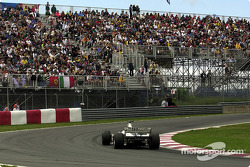 Jenson Button exiting the Senna hairpin