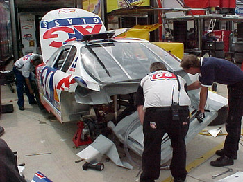 Rear of David Green's damaged car