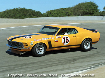 Parnelli Jones in his 1970 Mustang
