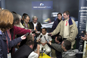 A busy Juan Pablo Montoya