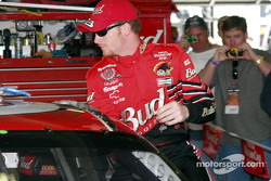 Pole winner Dale Jr climbs in