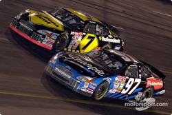 Mike Wallace and Kurt Busch battle it out