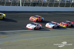 Kevin Harvick, Ricky Craven, Johnny Benson  and Hut Stricklin