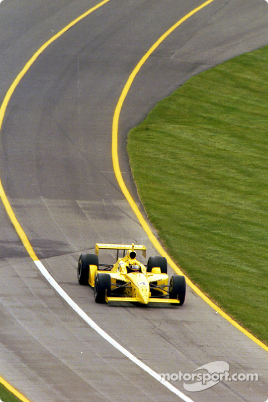 Sam Hornish Jr. exits the pits