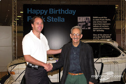 Friday, Frank Stella's 65th Birthday celebration: Gerhard Berger and Frank Stella