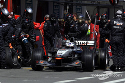 Pistop for David Coulthard
