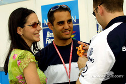 Juan Pablo Montoya and his girlfriend