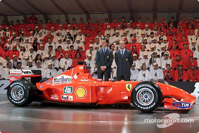 The drivers: Michael Schumacher and Rubens Barrichello