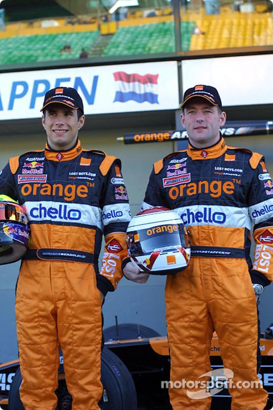 Enrique Bernoldi and Jos Verstappen