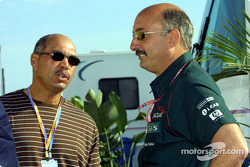 Reggie Jackson and Bobby Rahal