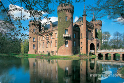 Driving to the Nurburgring: castle in the Eifel region