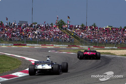 The battle for first place between the two brothers: Michael Schumacher and Ralf Schumacher