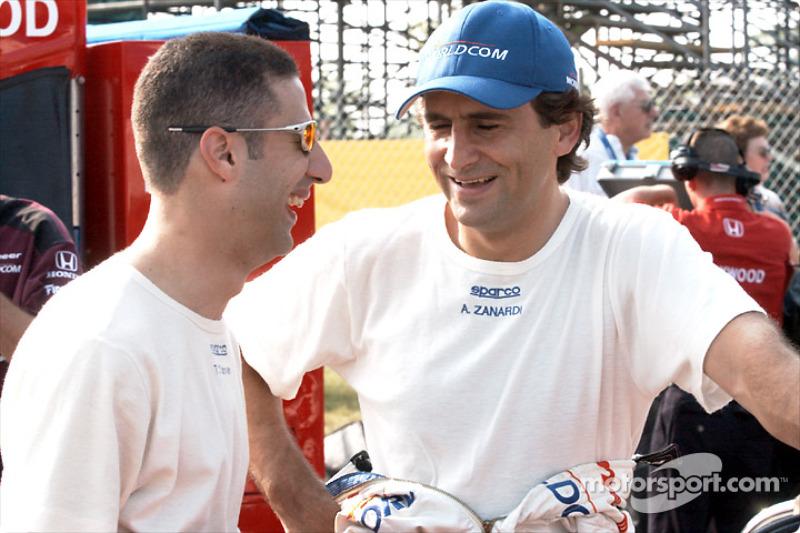 Tony Kanaan and Alex Zanardi