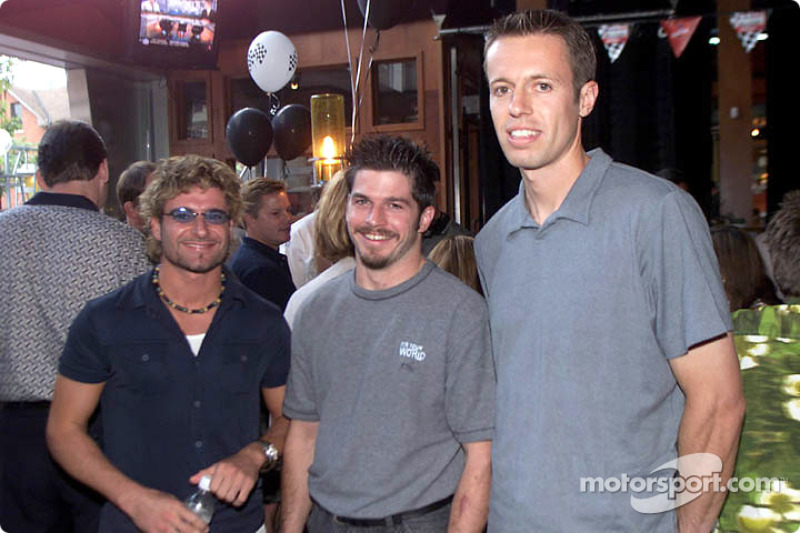 Patrick Carpentier and Alex Tagliani with 2000 Canadian Olympic Gold Doubles Tennis Champion Daniel Nestor