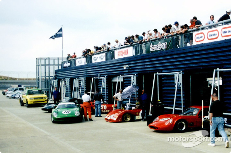 Millions of pounds  worth of cars adorn the pitlane
