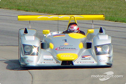 Rinaldo Capello testing the Audi on the Mid-Ohio track