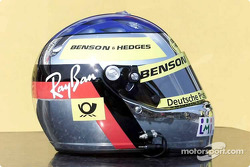 Jean Alesi's helmet, with the Jordan colors