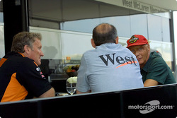 Tom Walkinshaw, Ron Dennis and Niki Lauda