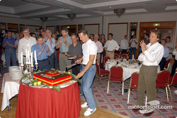 The party at the Kempinski Hotel in Budapest