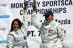 LMP 675 winners Milka Duno and Didier de Radigues