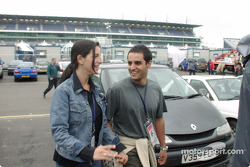 Visit from Juan Pablo Montoya and girlfriend Connie