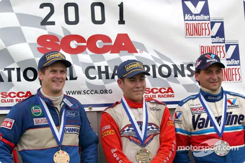Race 5, Formula Ford podium: National Champion Kyle Krisiloff, 2nd Keith Nunes, 3rd Tom Reinsel
