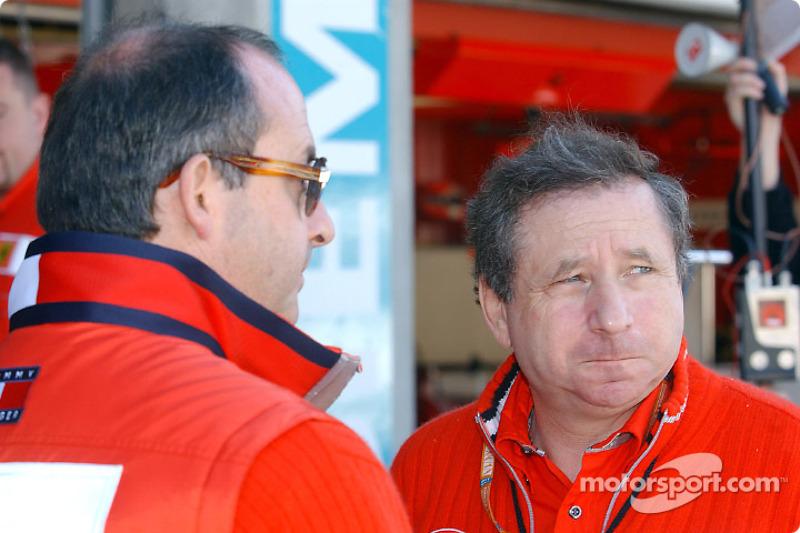 Claudio Berro and Jean Todt