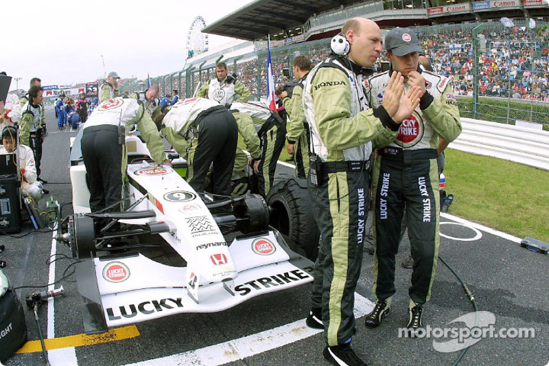 On the grid: Olivier Panis